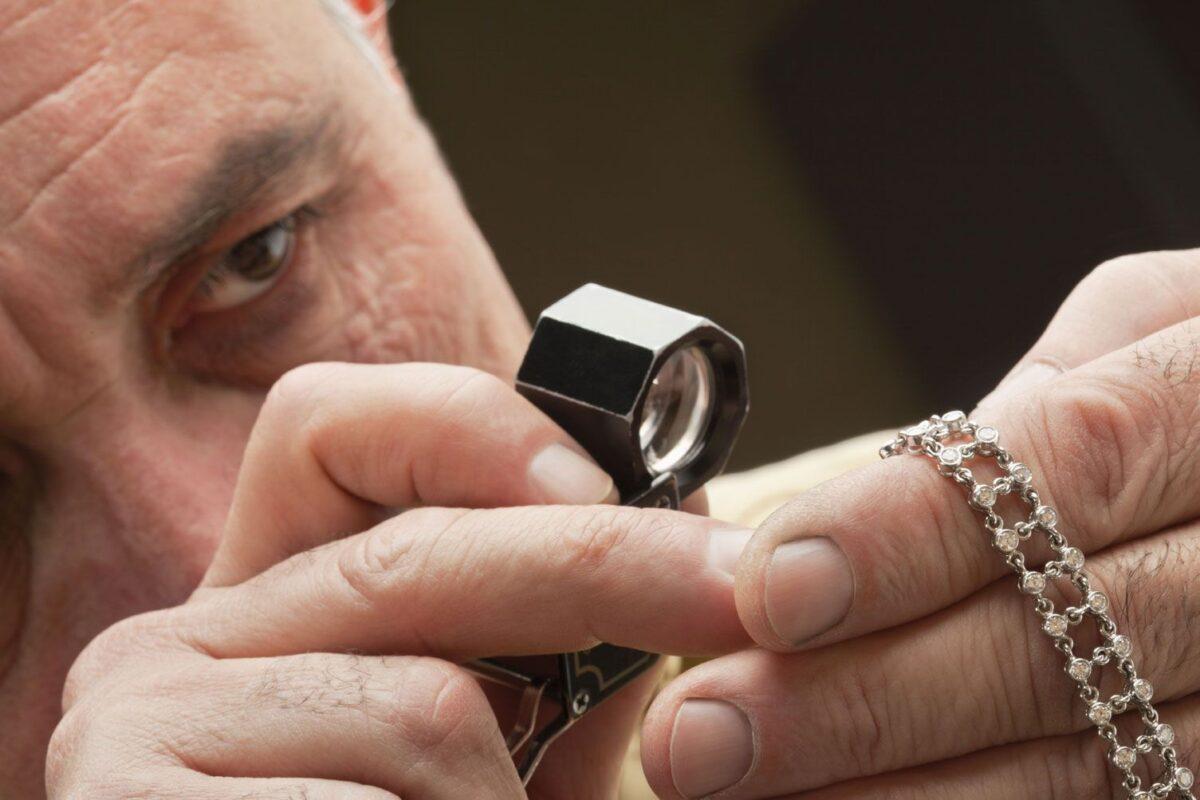 Atlanta jeweler designing custom bracelet