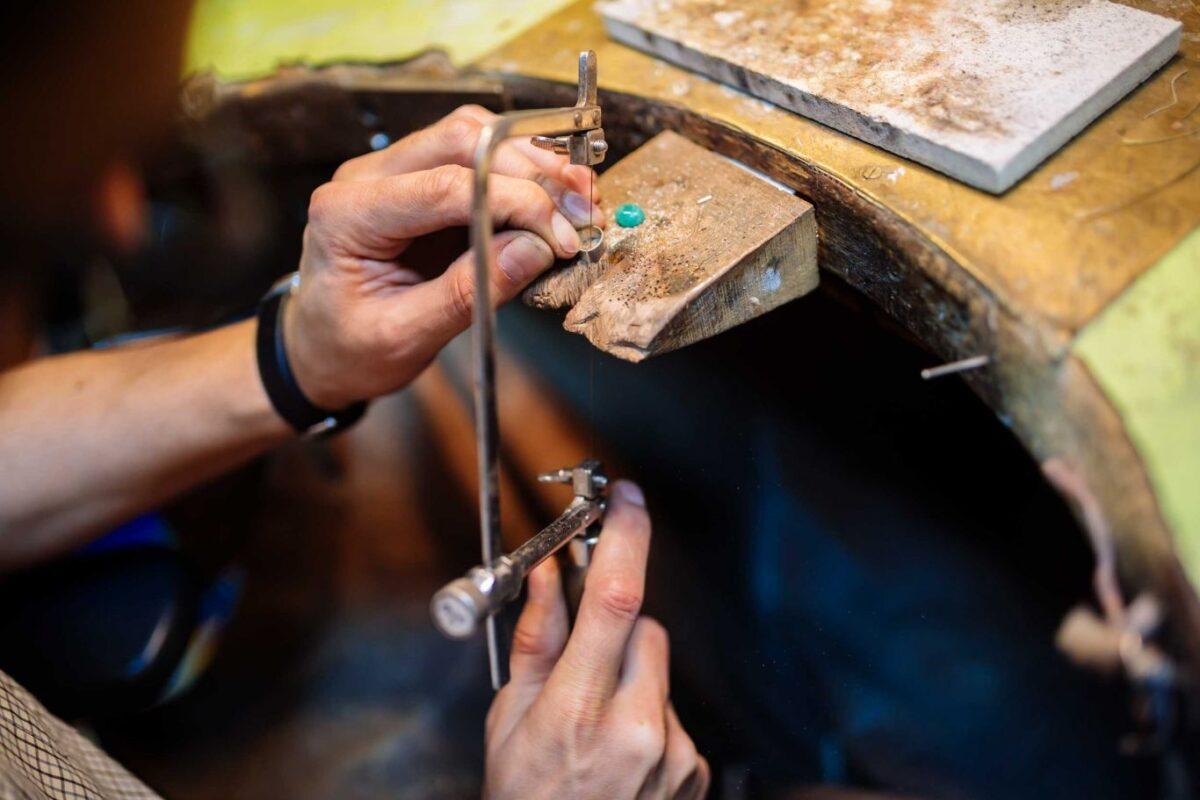 Atlanta jeweler custom designing gemstone jewelry